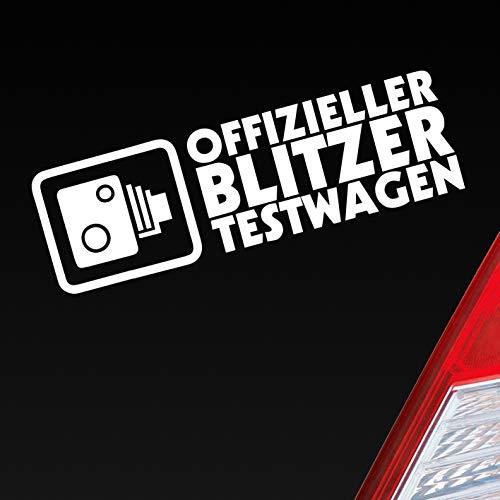 Auto Aufkleber in deiner Wunschfarbe Offizieller Blitzer Testwagen Tuning Racing 15x5 cm Autoaufkleber Sticker