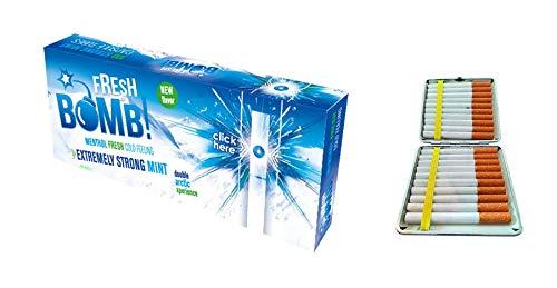 Fresh Bomb 500 Filterhülsen Arctic Strong (Minze) Click Hülsen mit Aromakapsel 5 Boxen inkl. Gratis Etui