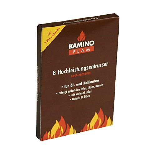 KaminoFlam Rußentferner zur Reinigung von Ölofen & Kohleofen - Hochleistungs Entrußer für den Ofen - Kaminreiniger Würfel für Öl & Holzkohle Öfen