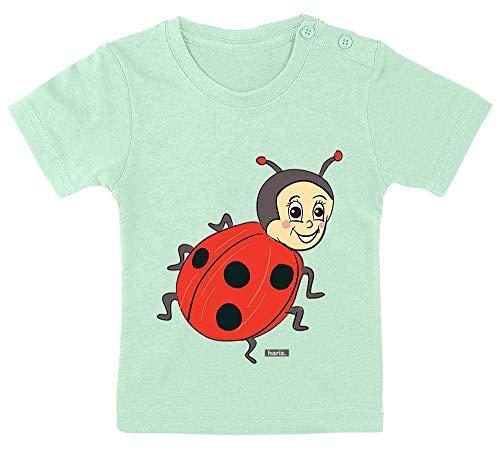 HARIZ Baby T-Shirt Marienkäfer Kleeblatt Tiere Kindergarten Inkl. Geschenk Karte Zahnpasta Grün 3-9 Monate / 60-69cm