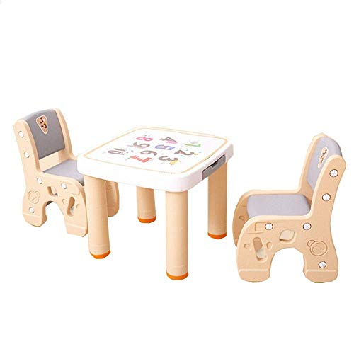 FTFTO Decoration Accessories Children's Table and Chair Set Children's Table and Chair Set Study Table Desk Game Table and Chair for Your Kids Indoor or Outdoor Children's Table and Chair Set
