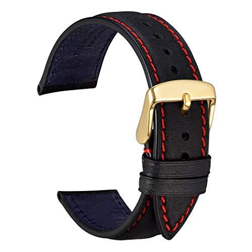 WOCCI 20mm Cinturini per orologio in Pelle con Fibbia Oro, Accessori Da...