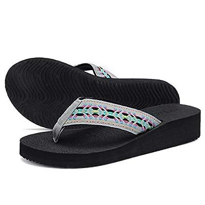 Amazon - Save 40%: UTENAG Women's Platform Flip Flops Casual Comfort Sandals Wedge Thong Sli…