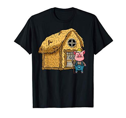 Disfraz de Halloween perezoso de tres cerdos - Casa de paja Camiseta