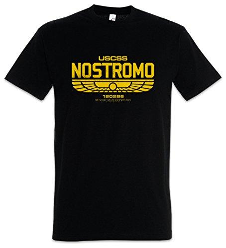 Urban Backwoods USCSS Nostromo IV Camiseta De Hombre T-Shirt Negro Talla S