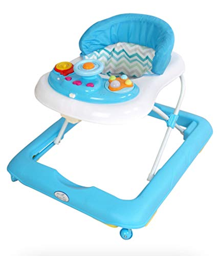 Andador para bebé modelo volante celeste. Andador de actividades o tacatá
