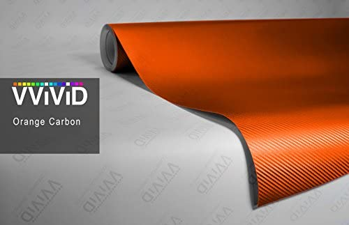 VViViD XPO Orange 3D Carbon Fiber Vinyl Wrap Roll with Air Release Technology 3ft x 5ft product image