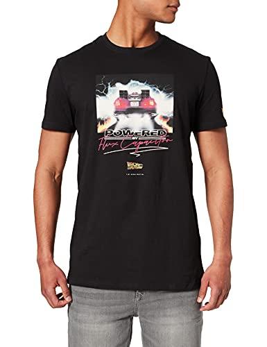 Springfield Camiseta Cartel Regreso AL Futuro, Negro, M para Hombre