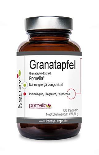 Granatapfel |Extrakt Pomella | (60 Kapseln) | Nahrungsergänzungsmittel | Kenay Europe |