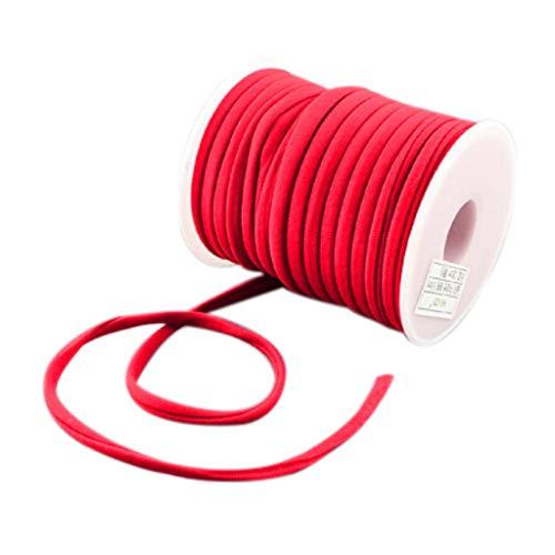XUNXI Hilo de cordón de Nailon, 20 m/Rollo 5 mm Hilo de Hilo de Nailon pequeño y Suave para Pulseras Gargantilla Joyería DIY Artesanía Rojo