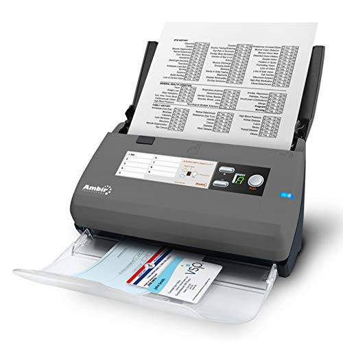 Ambir ImageScan Pro 820ix 20ppm High-Speed ADF Scanner for Windows PC and Mac