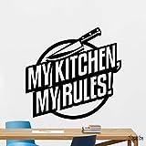 Tianpengyuanshuai My Kitchen My Rules Vinilos Decorativos Vinilos Adhesivos Vinilos Removibles Vinilos Decorativos para el hogar 63X66cm