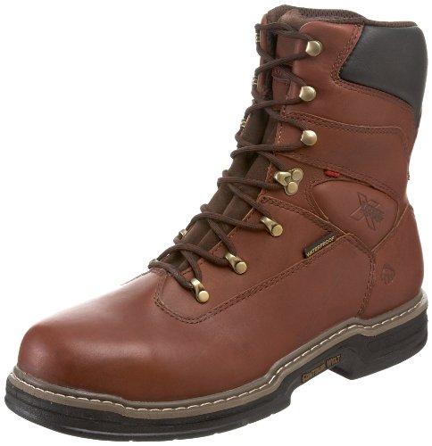 Wolverine W04822 Men's Buccaneer Dark Brown Steel-Toe EH Waterproof Work Boot - 10.5 D(M) US