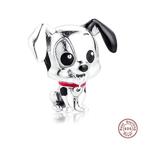 COOLTASTE 2020 - Abalorio de plata 925 para pulsera Pandora, diseño de dálmatas, para regalo del día de la madre