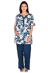 9teenAGAIN Floral-Printed Nursing Night-Suit