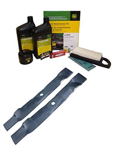 John Deere Original Equipment Model LA115 Maintenance Kit + Standard Blades
