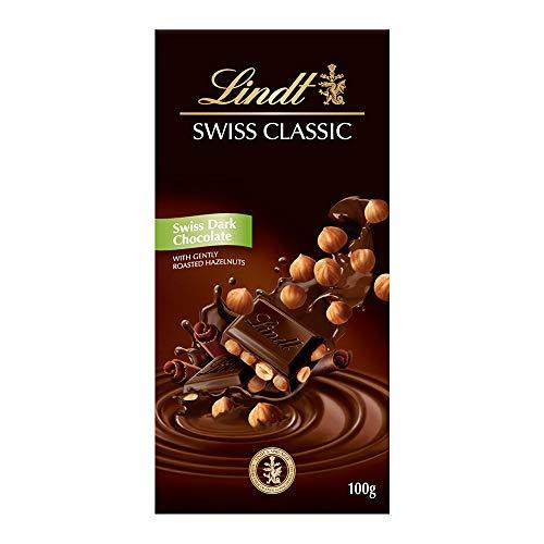 Chocolate Meio Amargo com Avelãs Torradas Inteiras Swiss Classic Caixa 100g Lindt