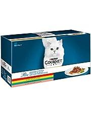Gourmet Perle Mini Filets in Saus Kattenvoer, Natvoer Maaltijdzakjes met Rund, met Kip, met Konijn, met Zalm, 60 x 85g (60 Maaltijdzakjes; 5,1kg)