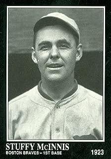 Stuffy McInnis Baseball Card (Boston Braves) 1991 Sporting News Conlon Collection #191
