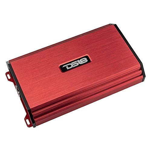 DS18 S-1200.4/RD Car Audio Amplifier – 4 Channel, Full Range, Class Ab, 1200 WATTS (Red)