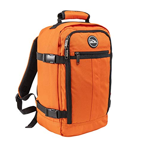 Cabin Max Metz Kleiner Rucksack – 20 Liter Stowaway Reisetasche 40x20x25 cm – Ryanair Kabinengepäck – Ideal als Handgepäck im Flugzeug (Orange)