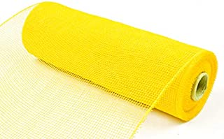 Koopi Poly Deco Mesh 10 inch x 10 Yards Each Roll, Set of 2 Yellow Deco Mesh Ribbons for Wreaths, Swags, Craft, Party and ...