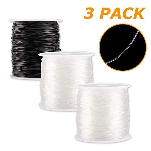 0.8 mm Hilo Elástico Pulseras Transparente Cuerda para Fabricación de Artesanía Joyería(300M)