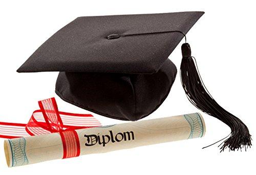 Loose und Germershausen GbR Deluxe Bachelor Doktor College Absolventen Hut Doctor Cap Doktorhut Diplomhut