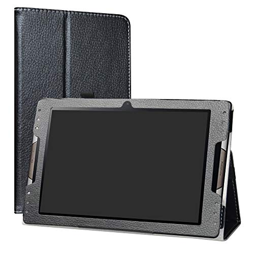 """Acer Iconia Tab 10 A3-A50 hülle,LiuShan Folding PU Leder Tasche Hülle Case mit Ständer für 10.1"""" Acer Iconia Tab 10 A3-A50 Android Tablet PC,Schwarz"""