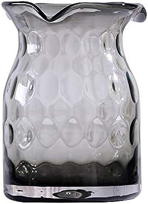 おしゃれ 花瓶 フラワーベース 花器 ガラス (スモークグレー)