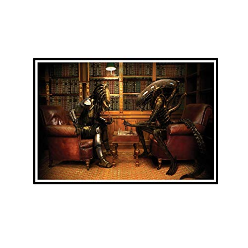 FJPDLAKE Alien Vs. Predator Game Poster Picture Backdrop Wall Decor Home Living Room Decoration -20X32InchNoFrame1PCS