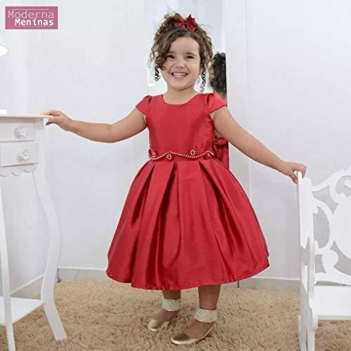 Vestido de Festa Infantil com bordado