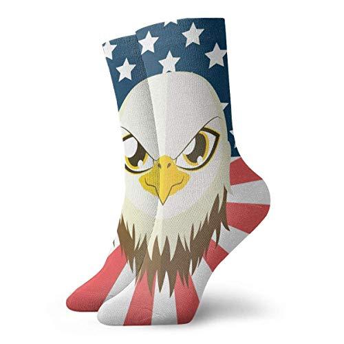 Gre Rry Vintage amerikanische Flagge Adler Mode Kleid Socken Socken Casual Travel Sports Socken Walking Radfahren Laufen Fußball