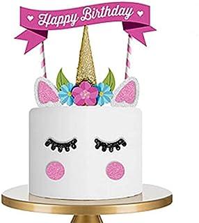 Drapeau des Cure-Dents,Toothpick Flags Licorne Cupcake Toppers Décoration Cupcake Enfants Anniversaire Mariages Douches de...