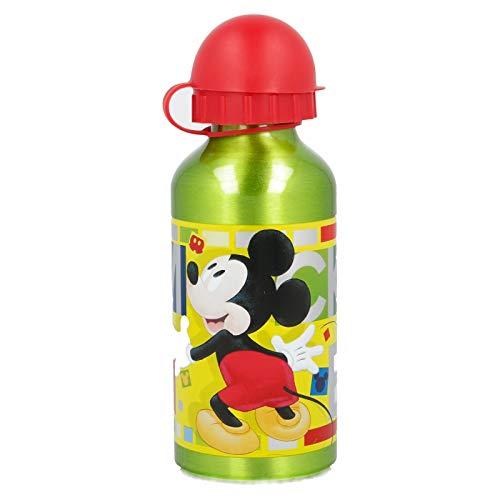 Disney Borraccia in Alluminio per Bambini 400Ml Topolino