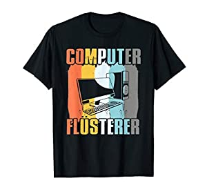 Das einzigartige Vintage Computer Flüsterer Retro Informatiker Nerd Geschenk Motiv für Männer, Frauen, Kinder, Webentwickler, Informatiker, Programmierer, Webdesigner, Nerd, Computersprache und alles was mit dem PC zu tun hat. Lustiges Geschenk für N...