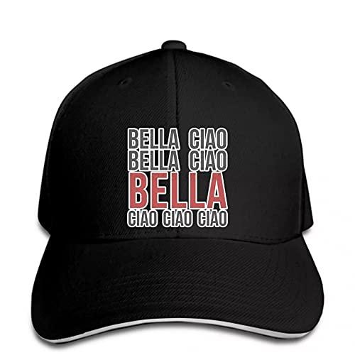 N/A Gorra de béisbol para Hombre Bella Ciao La casa de Papel, Gorra Snapback para Mujer, Gorra Ajustable, Informal, Divertida, Deportiva al Aire Libre, para camión