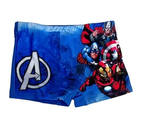 Badehose Avengers Jungen Badeshorts Marvel (Blau, 134)