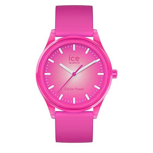 ICE-WATCH ICE Solar Power Indian Summer - Reloj Rosa para Mujer con Correa de Silicona, 017772 (Medium)