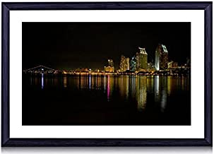 Coronado Island At Night - Art Print Black Wood Framed Wall Art Picture For Home Decoration - 24