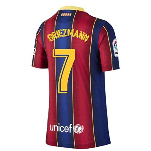 Barcelona 2020-2021 Antoine Griezmann Kids Home Football Shirt