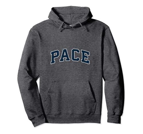 Pace Florida FL Vintage Sports Design Navy Design Pullover Hoodie