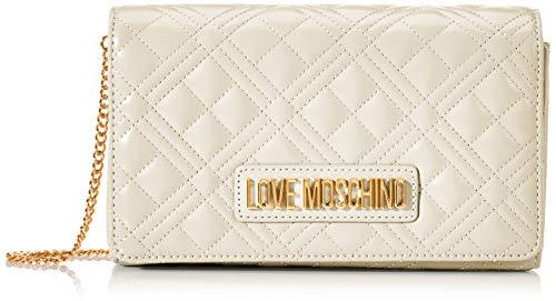Love Moschino Jc4247pp0a, Pochette da Giorno Donna, Avorio (Ivory Quilted), 7x14x22 cm (W x H x L)