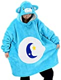 vavalad Blue Bear Sweatshirt Animal Wearable Blanket TV-Blanket Cosplay Costume Wearable Blanket for Men and Women Teens One Size Fits All
