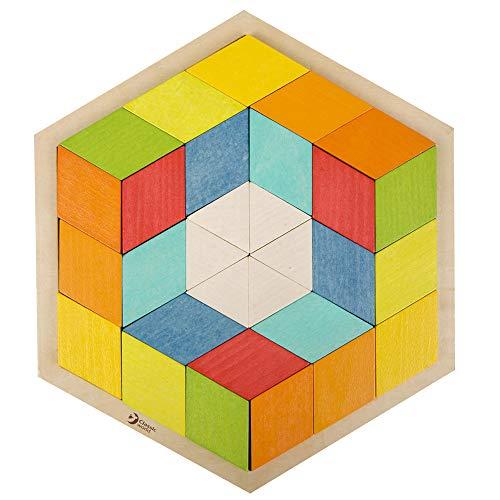 【知育玩具 パズル 立体パズル ブロック 木製 幼児 子ども 3歳 図形 かたち遊び 学習玩具 プレゼント お祝い】3D パズル Classic World(クラシックワールド)【CL3728】