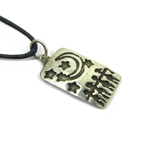 Bona Dea Goddess Pewter Pendant on Corded Necklace #HC-AW174
