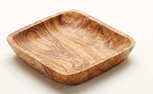 INSTO Square Deep Dish Plate 17Cm, Olivewood Tableware