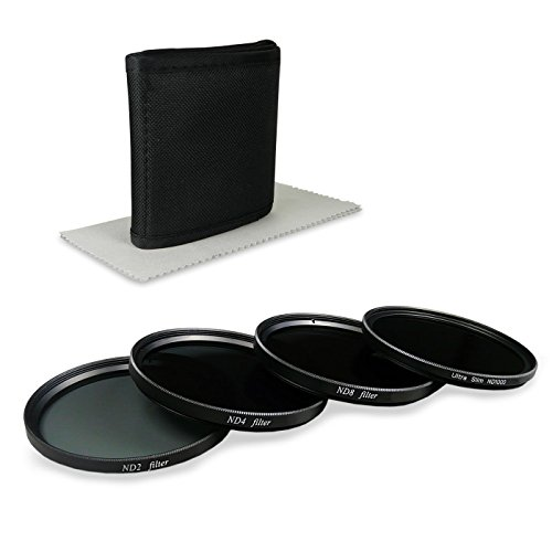 ND Set di filtri professionale 77mm - incl. Filter Kit (ND1000 + ND2 + ND4 + ND8) + Custodia in Nylon per i filtri