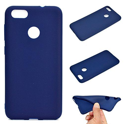 LeviDo Coque Compatible pour Huawei P9 Lite Mini/Huawei Y6 Pro 2017 Étui Silicone Bumper Antichoc TPU Gel Ultra Fine Mince Caoutchouc Bonbons Couleurs Etui Cover, Bleu Foncé