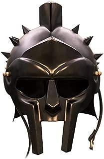 RED DEER Roman Arena Spiked Gladiator Helmet (All Black)